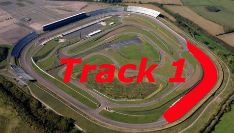 aerial photograph of Rockingham race track Corby Northamptonshire UK